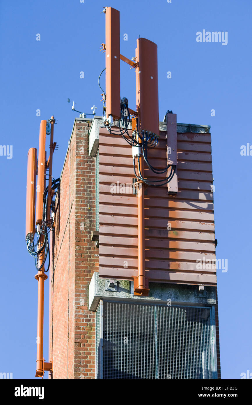 Drill Tower for a fire station - Stock Image