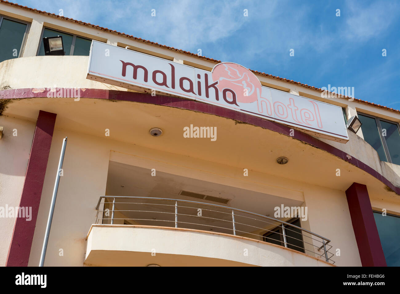 The Malaika hotel in the Guinea Bissau capital city of Bissau. - Stock Image