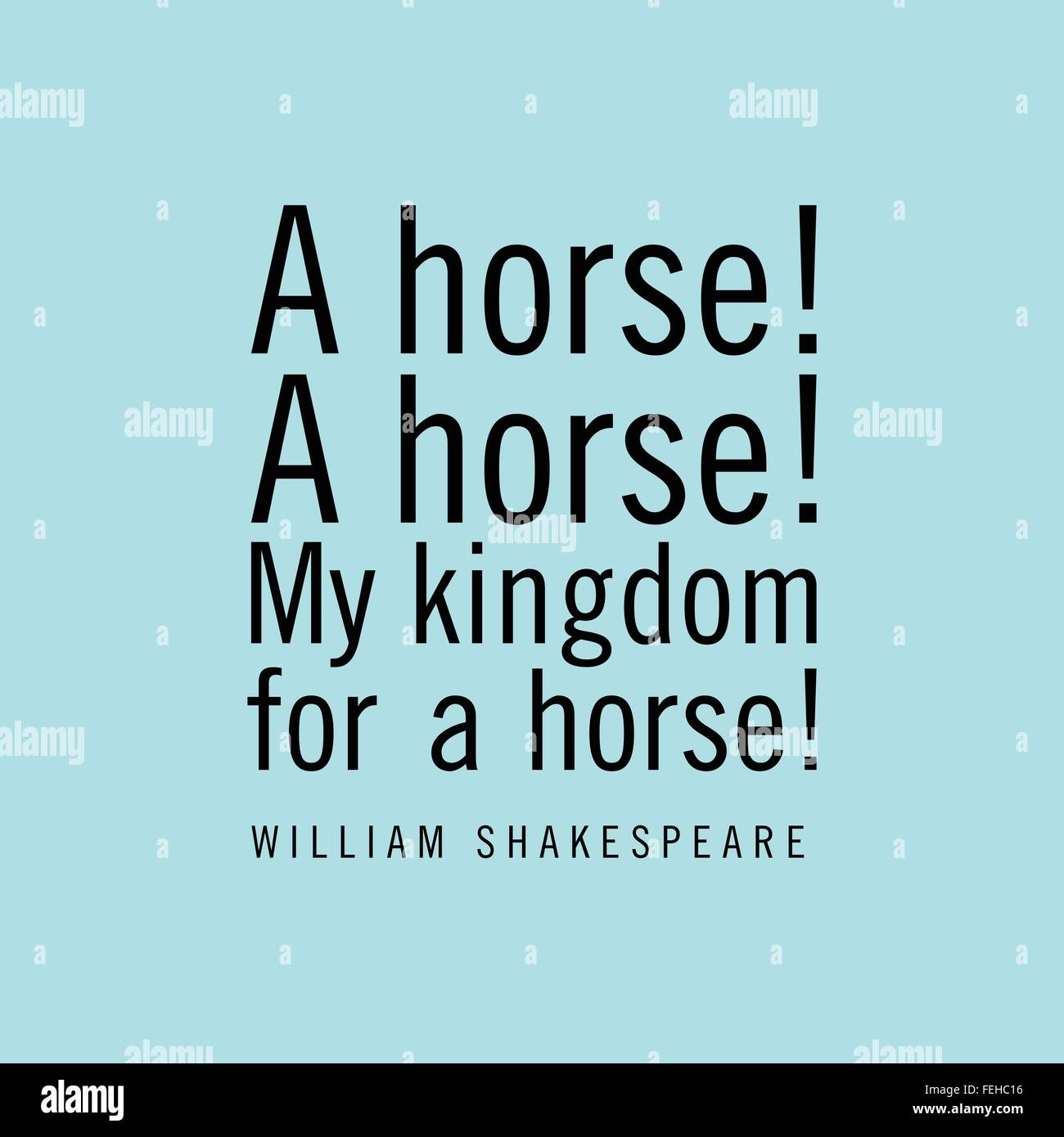 A Horse A Horse My Kingdom For A Horse William