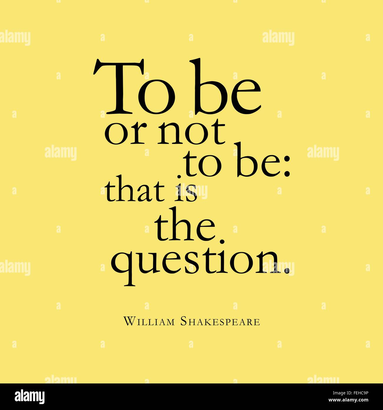 To Be Or Not To Be That Is The Question William