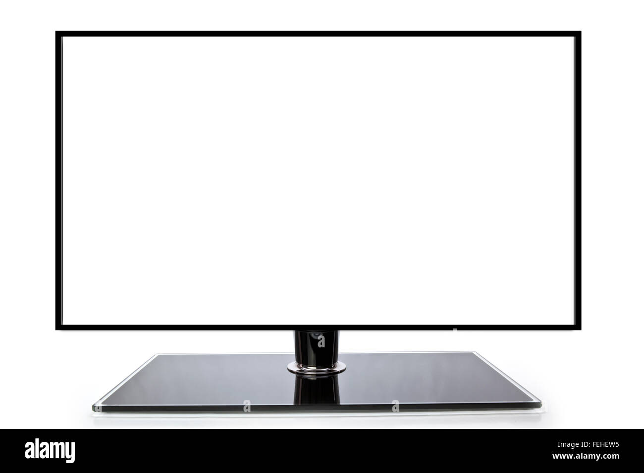 Blank wide screen TV with room for copy space - Stock Image