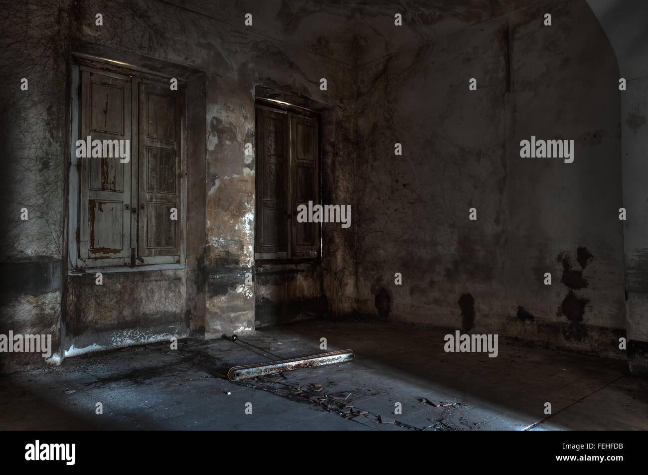 Scene Of Abandoned Asylum Stock Photo Alamy