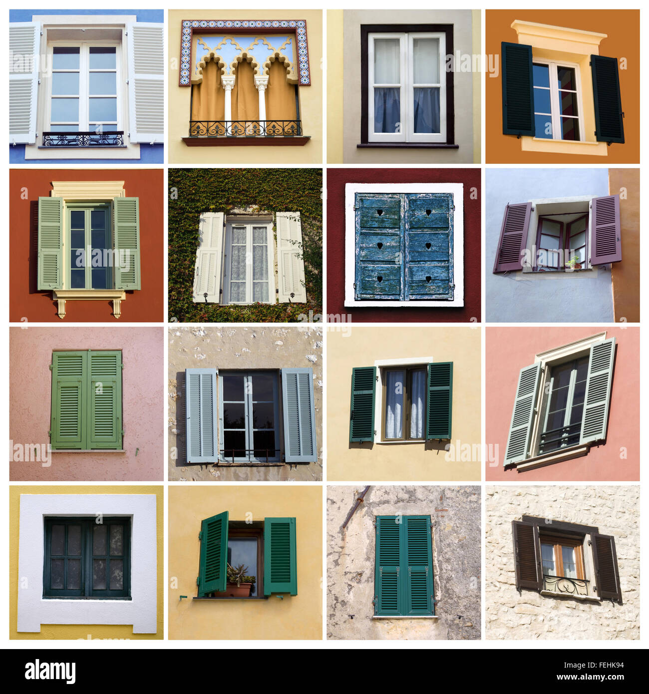 Mediterranean Style Windows Viendoraglass Com: Old-fashioned Windows In Mediterranean Style Stock Photo