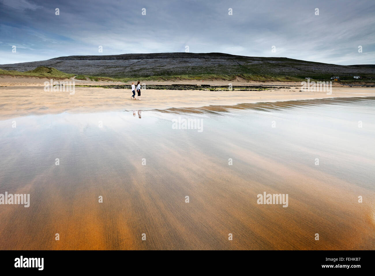 Fanore Beach in the Burren region, County Clare, Ireland - Stock Image