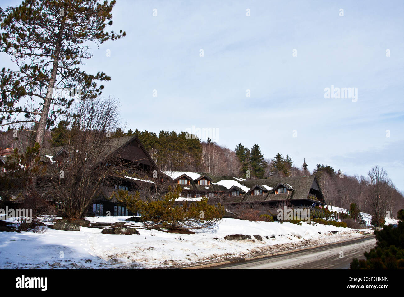 The Von Trapp Family Lodge in Stowe Vermont, USA, The Trapp Family Lodge - Stock Image