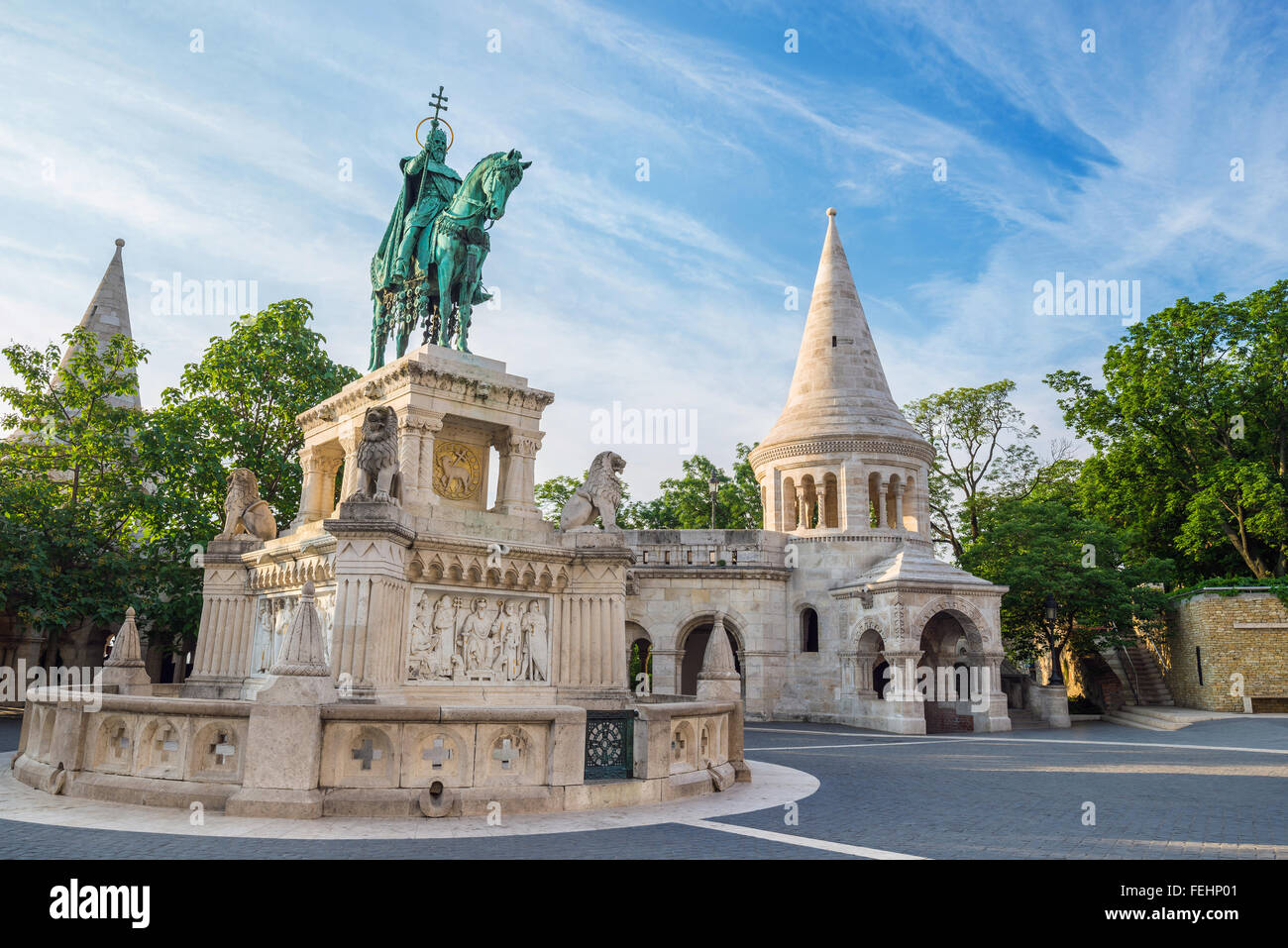 Fisherman's Bastion , Budapest , Hungary - Stock Image