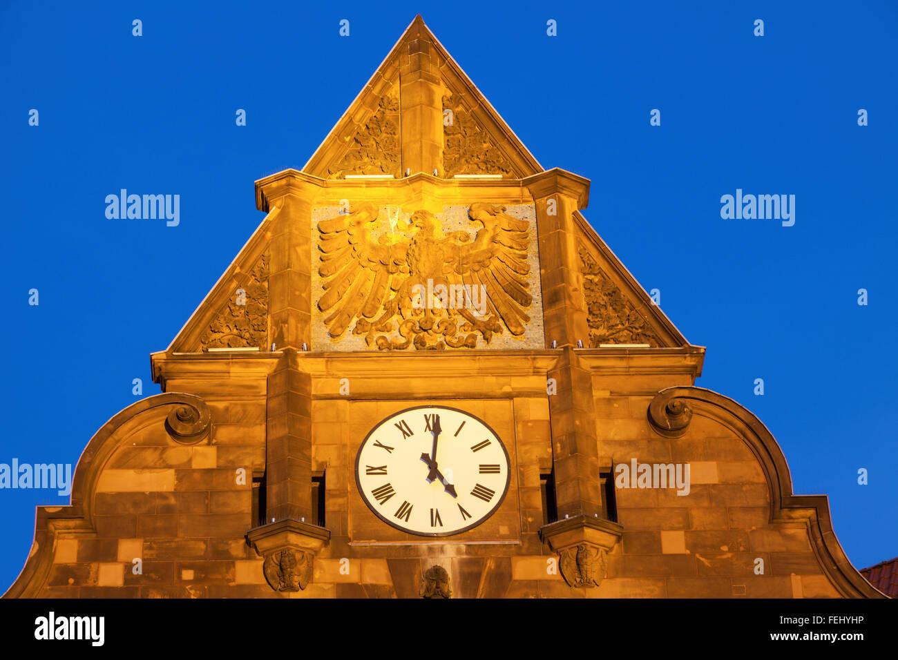 Historic Altes Stadthaus on Friedensplatz in Dortmund - Stock Image