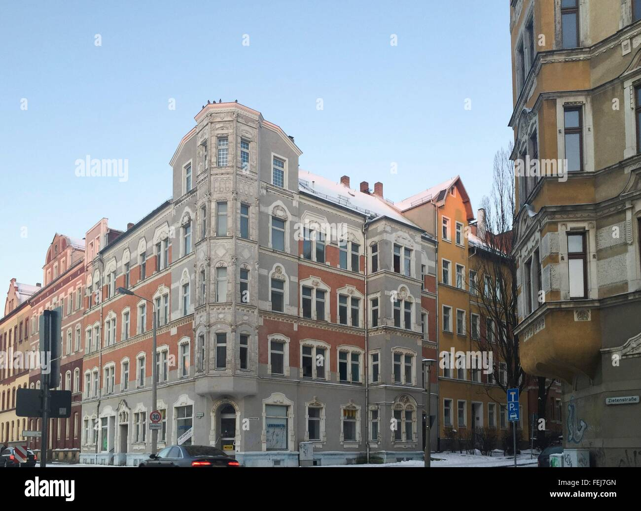 empty houses in Sonnenberg area in Chemnitz, photo: January 22, 2016. - Stock Image