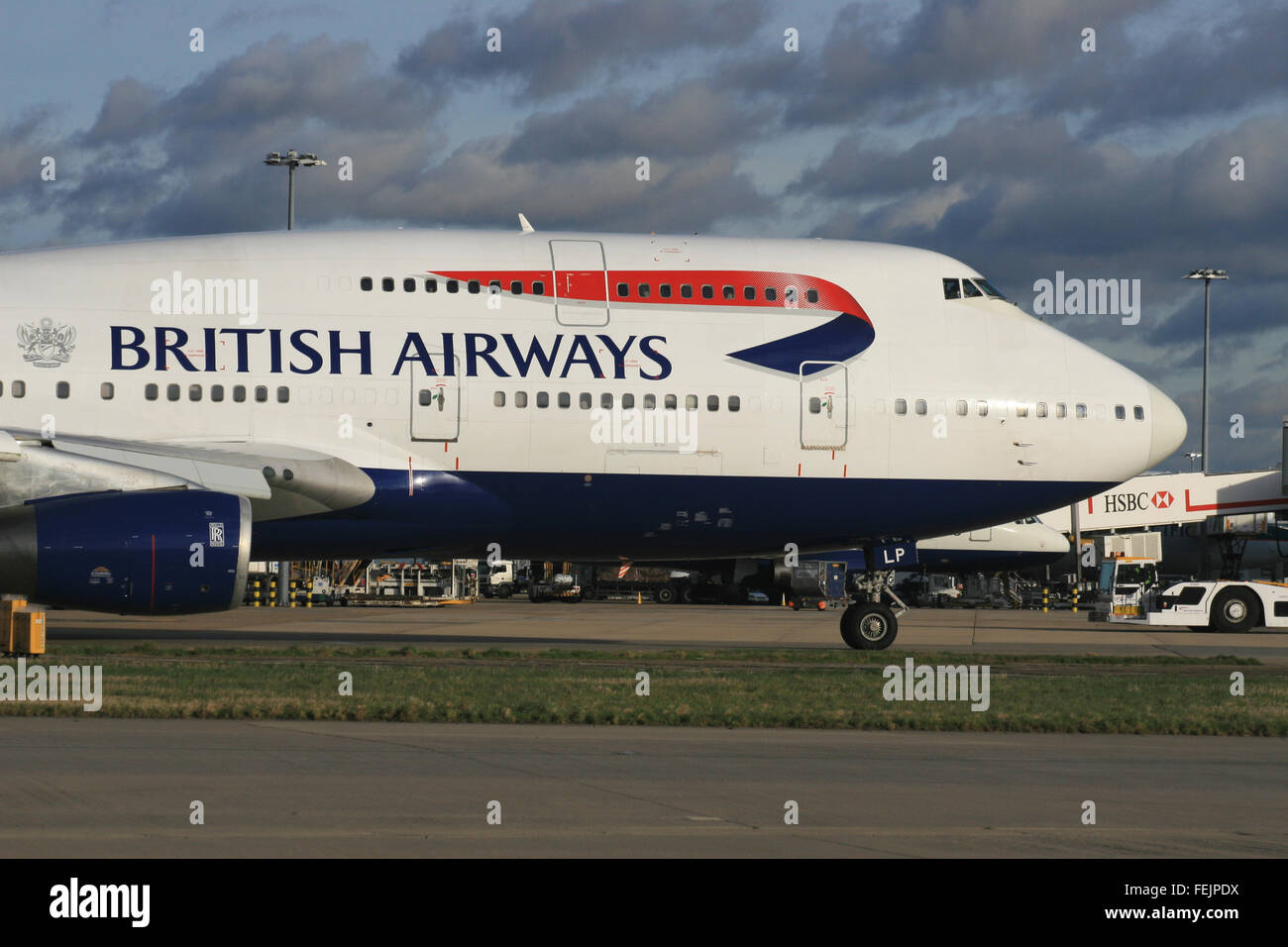 BRITISH AIRWAYS BOEING 747 - Stock Image