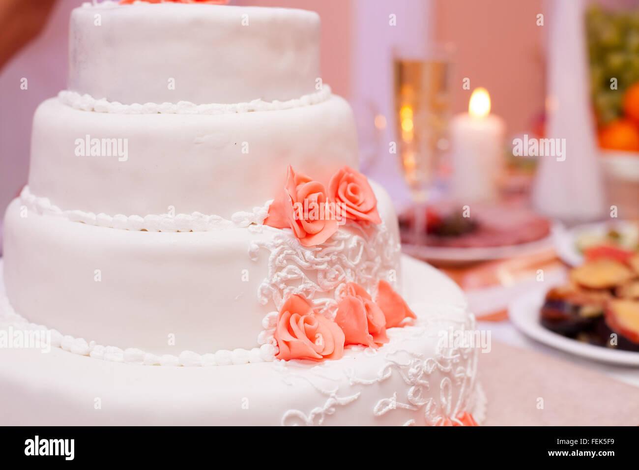 Details Wedding Cake White Sugar Stock Photos & Details Wedding Cake ...