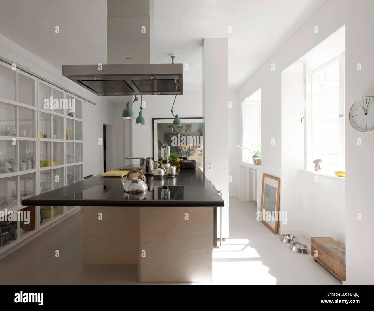 Modernism in the 'Cake House'. The kitchen area. - Stock Image
