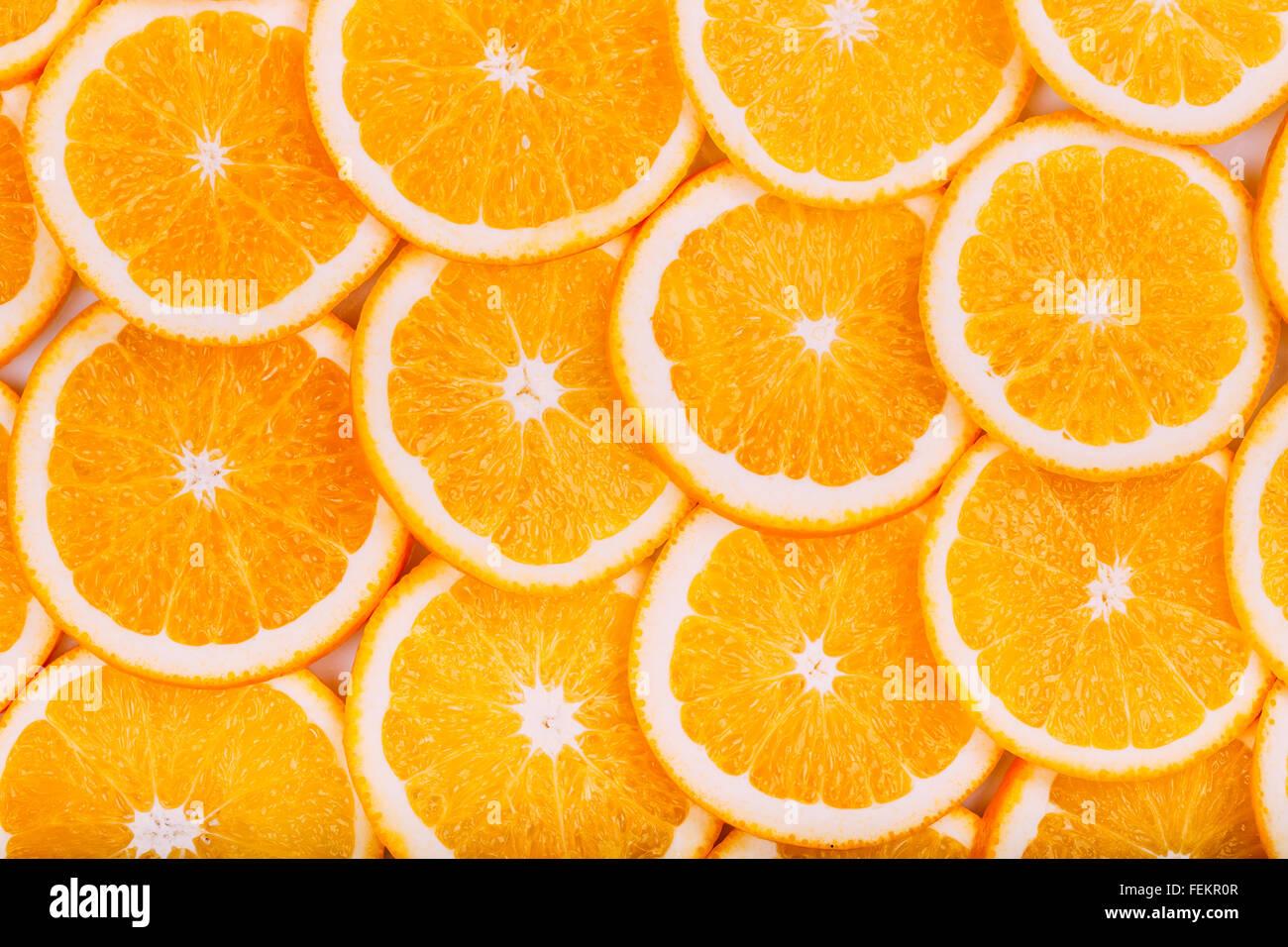 Orange Fruit Background. Summer Oranges. Healthy Food Concept - Stock Image