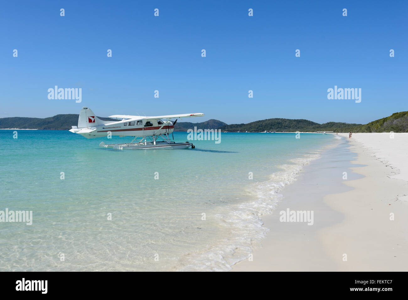 Whitehaven Beach, Whitsunday Islands, Queensland, Australia - Stock Image
