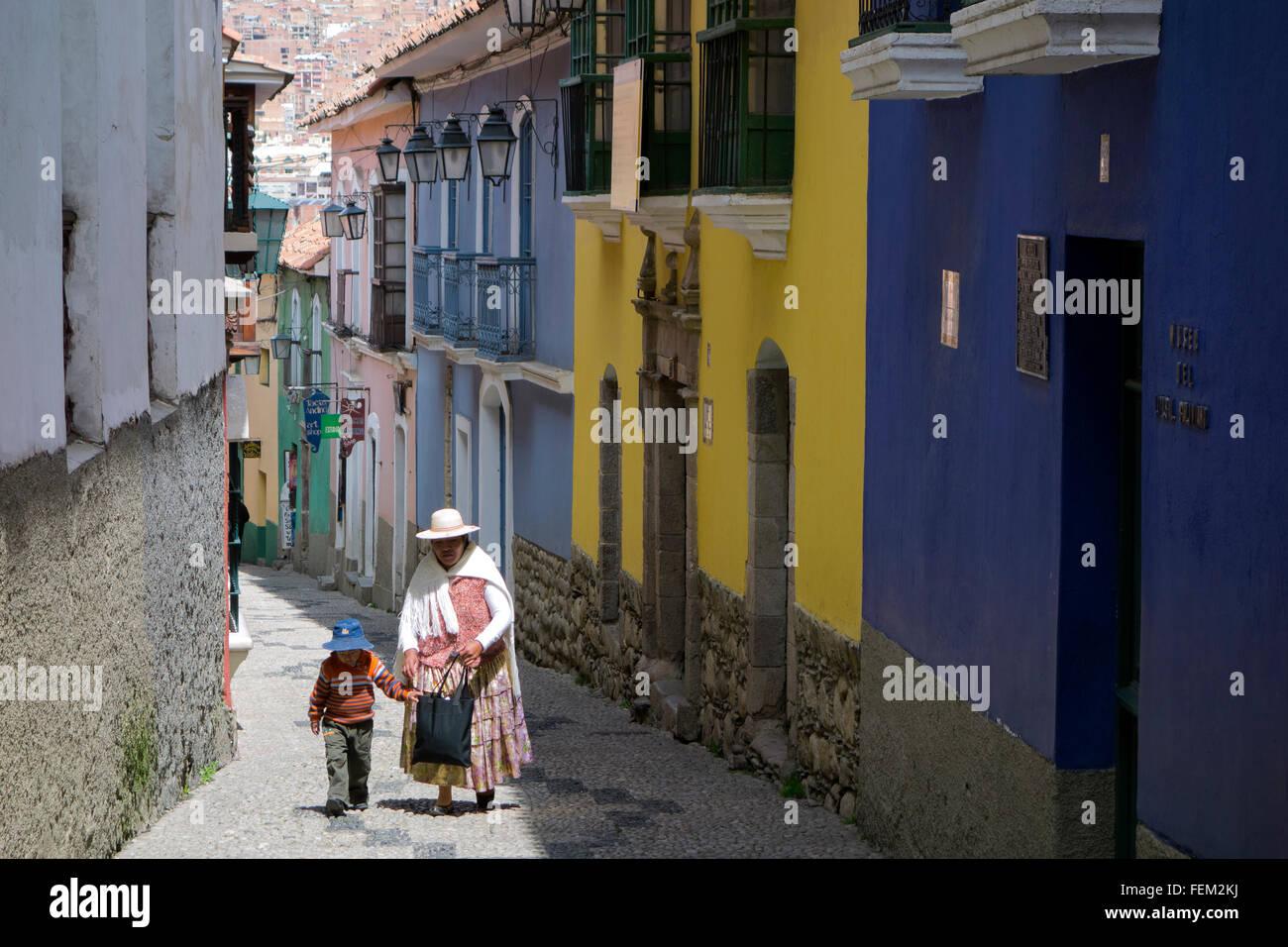 Jaen street (Calle Jaén). La Paz. Bolivia - Stock Image