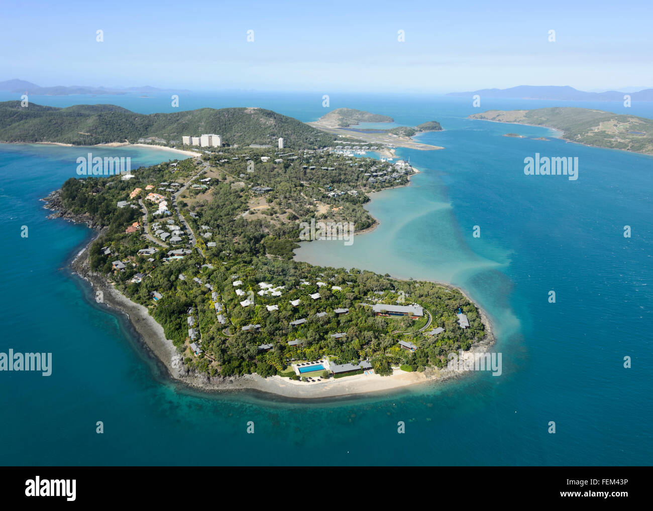 Aerial view of Hamilton Island, Queensland, Australia - Stock Image