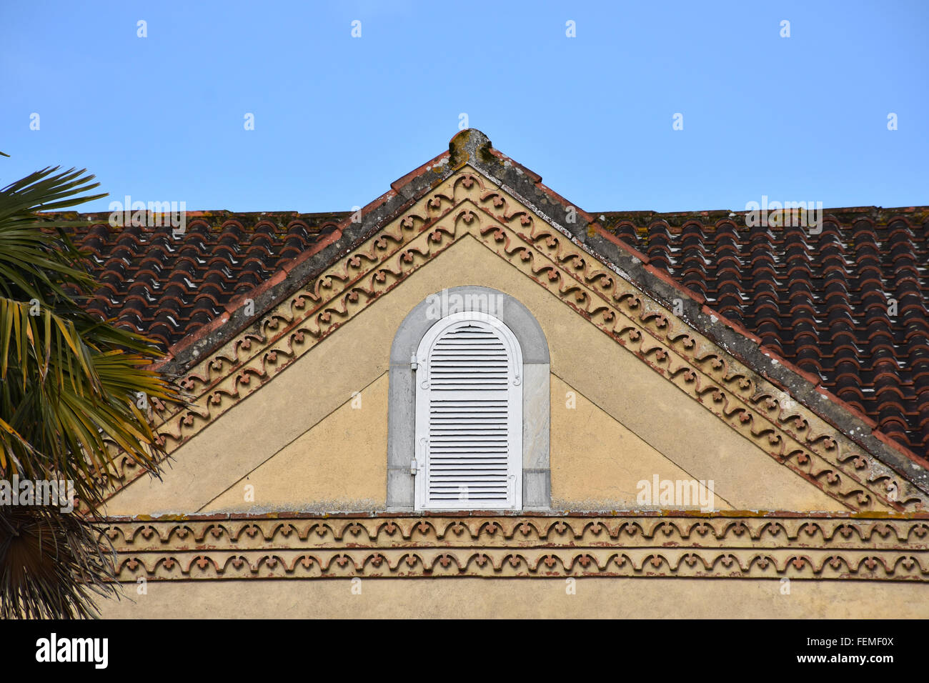 House gable Croute Gers - Stock Image