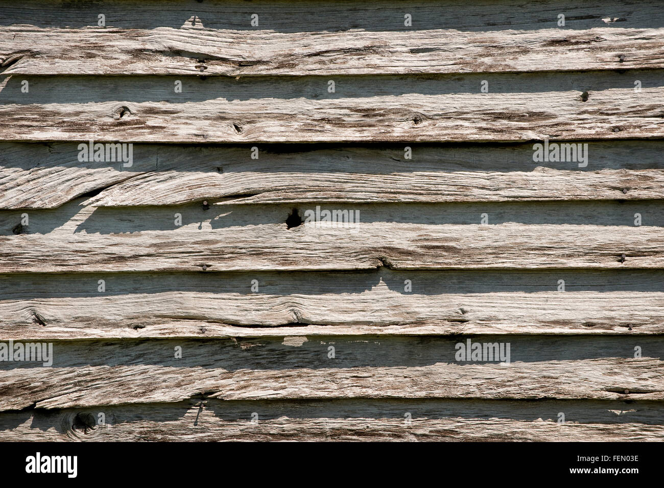 Weathered Old Barn Wood - Stock Image