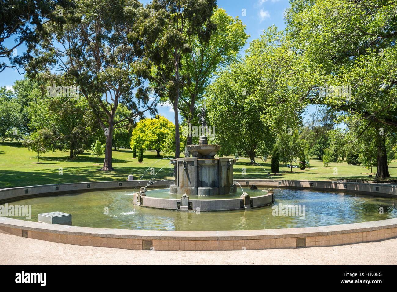 Robertson Fountain, Shrine of Remembrance, Melbourne, Australia - Stock Image