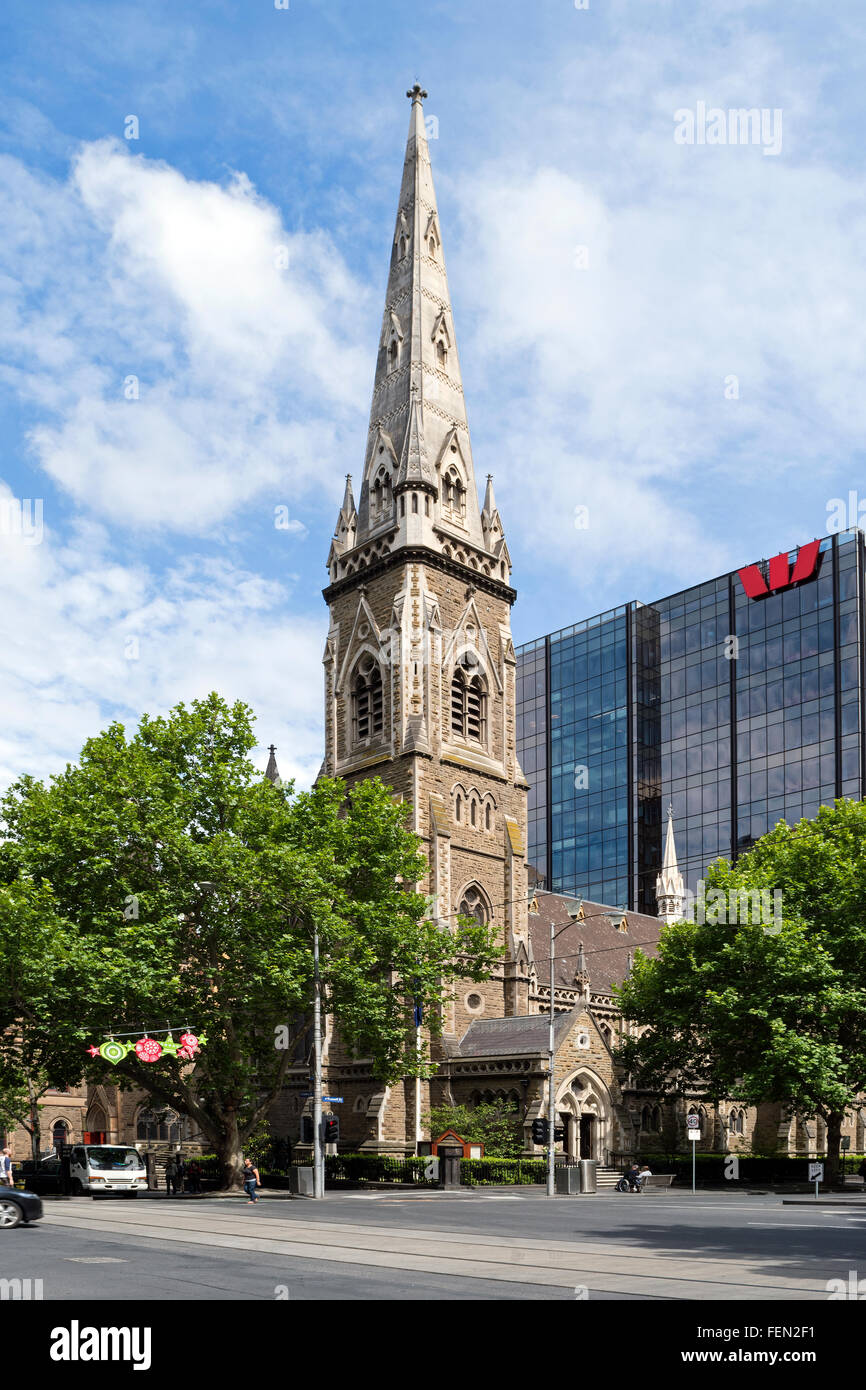 The Scots' Church, Melbourne, Australia - Stock Image