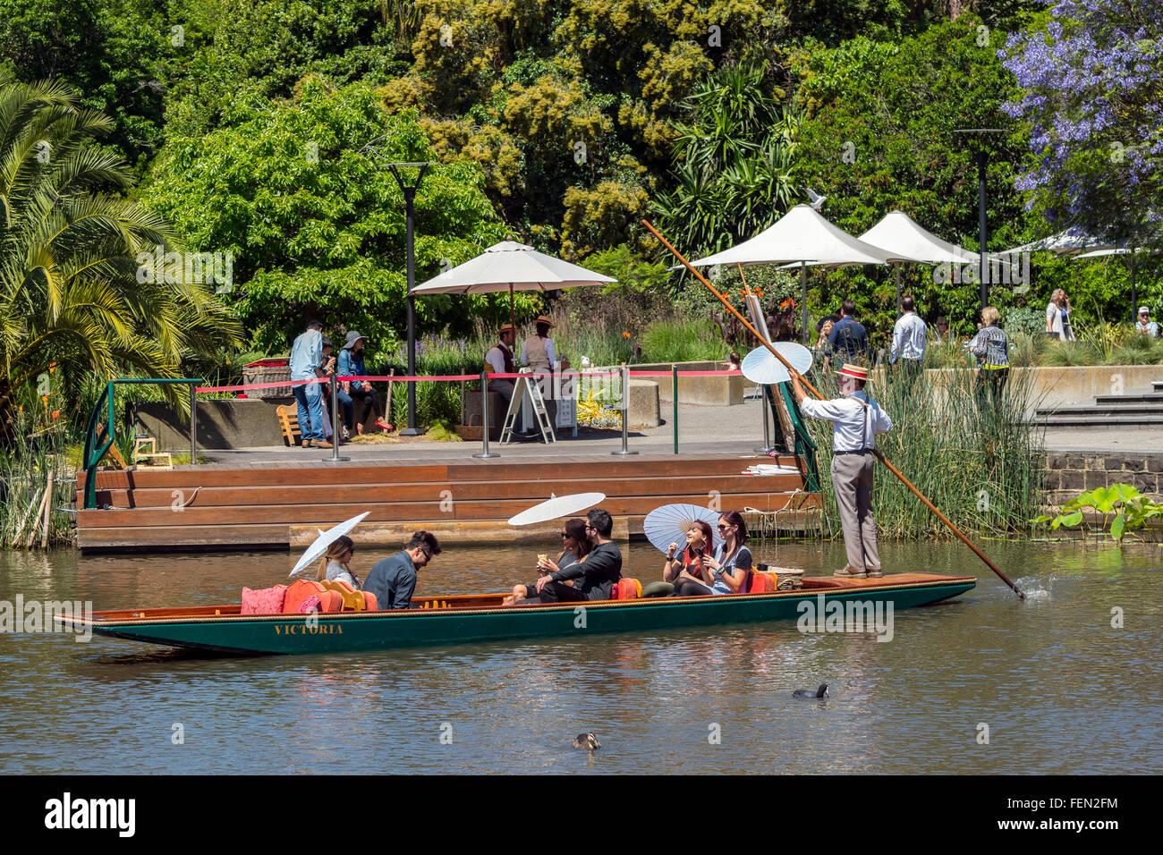 Punt Tours, The Royal Botanic Gardens, Melbourne, Australia, - Stock Image