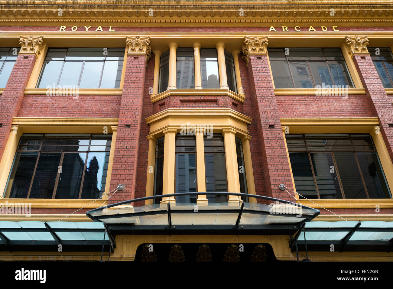 The Royal Arcade, Melbourne, Australia - Stock Image