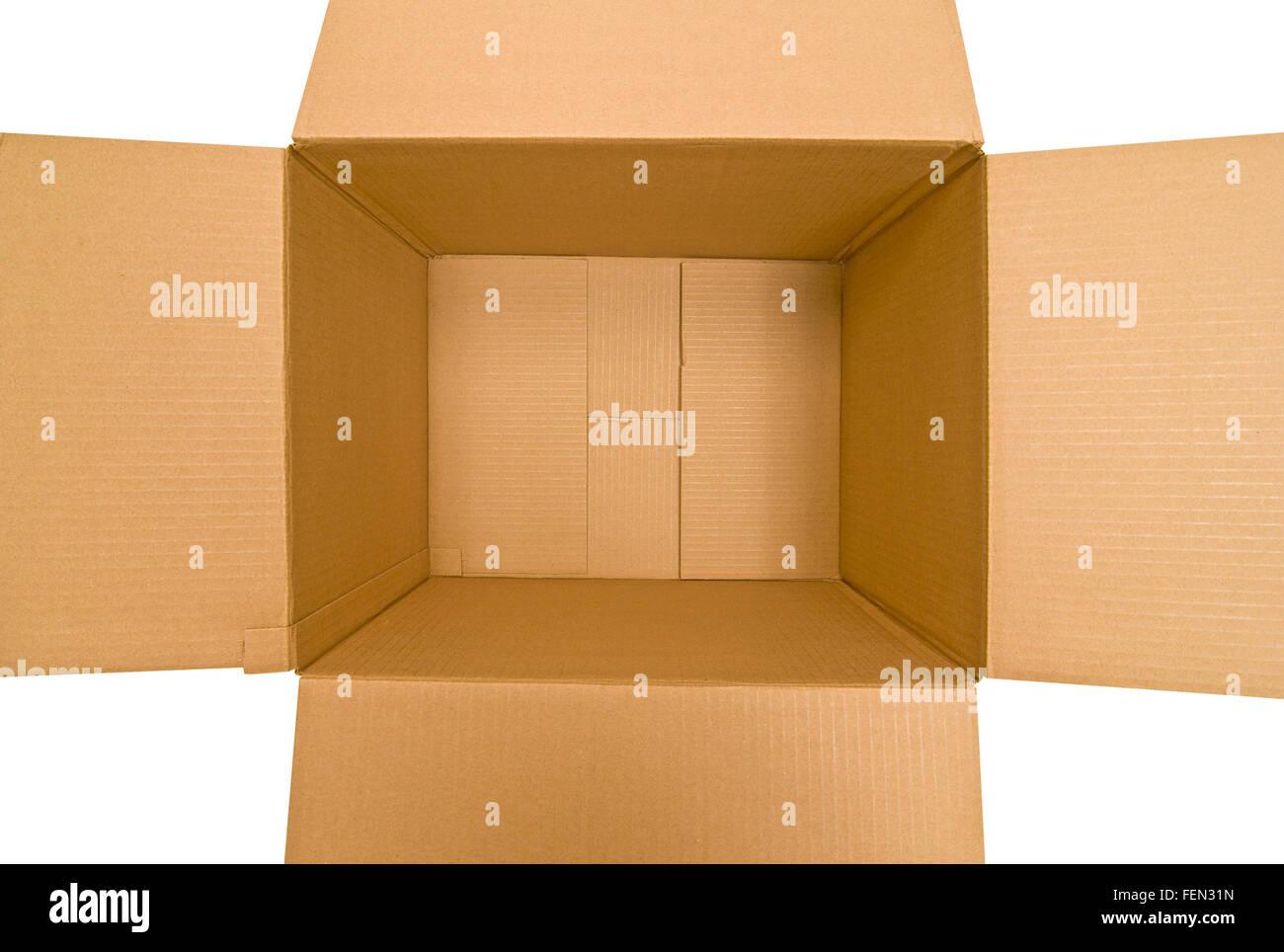Empty Cardboard Box Three - Stock Image