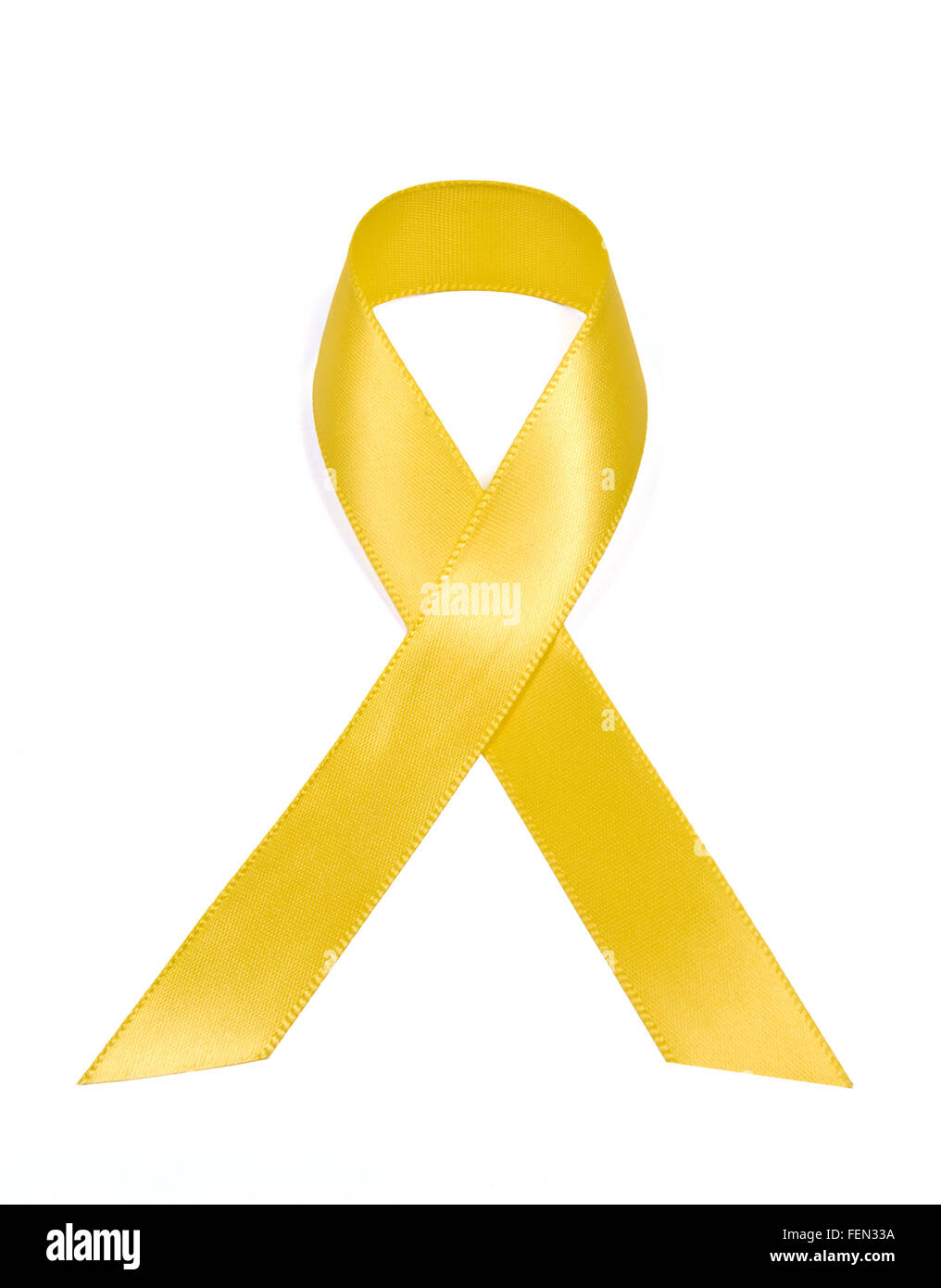 Yellow Support Our Troops Ribbon - Stock Image