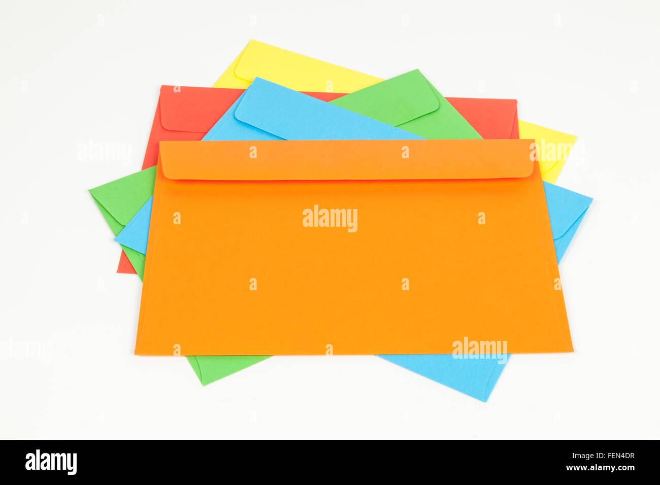Stack of envelopes - Stock Image
