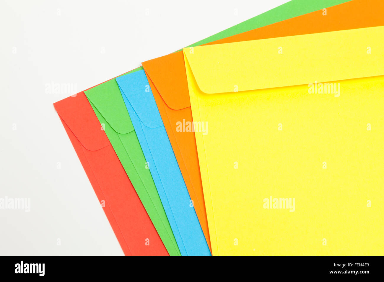 Colored envelopes - Stock Image