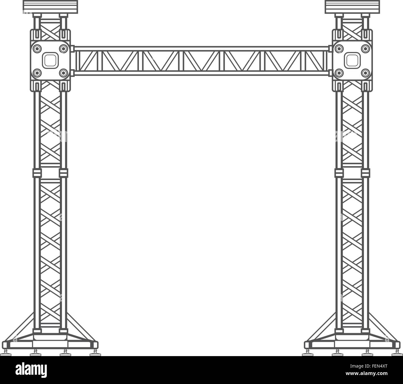 vector dark grey outline stage sound lighting aluminum truss