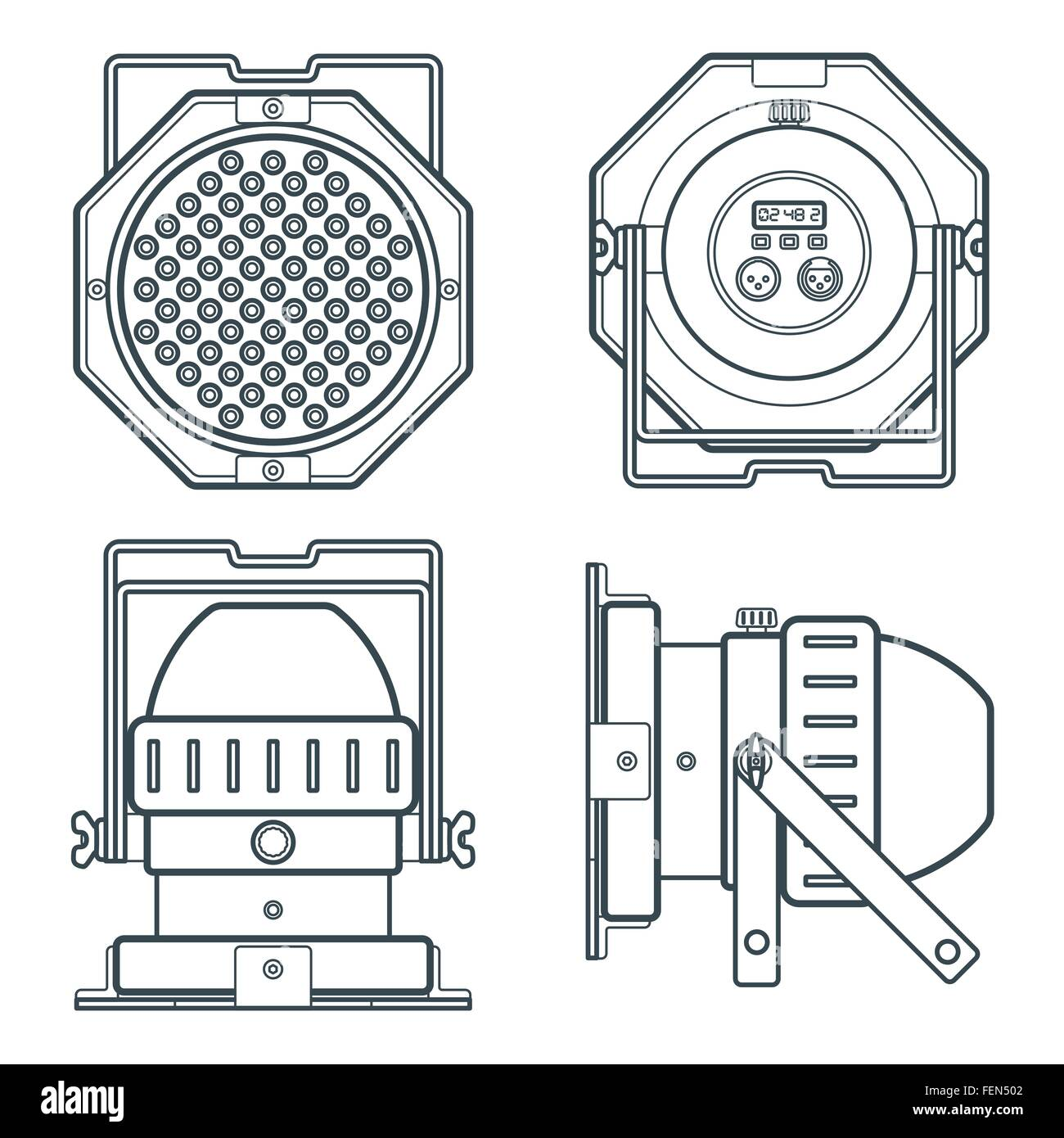 Stage Lights Cut Out Stock Images Pictures Alamy Theatre Lighting Diagram Vector Led Par Professional Projector Device Gray Outline Illustration Dark Background Image