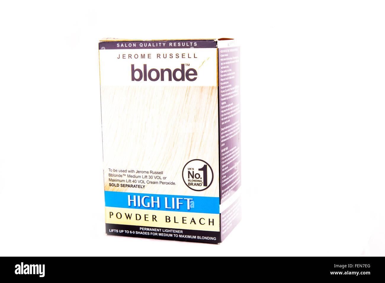 Hair Dye Powder Bleach Blonde Colour Box Color Blond Cutout Cut Out