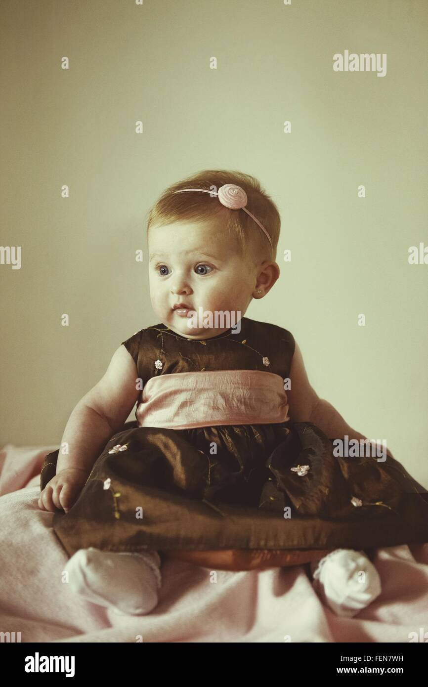 Portrait Of Baby Girl - Stock Image