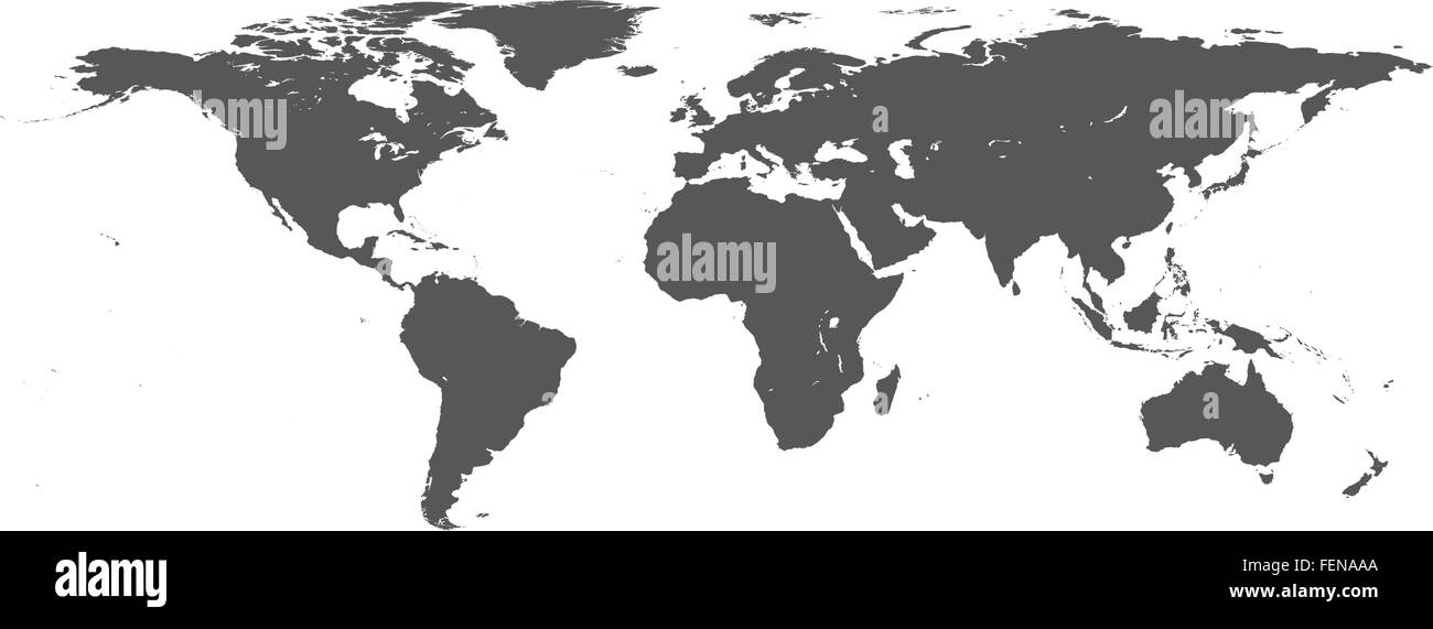 Vector dark grey on white world map stock vector art illustration vector dark grey on white world map gumiabroncs Image collections