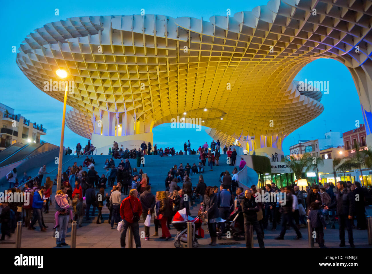 Espacio Metropol Parasol, Plaza de la Encarnacion, Sevilla, Andalucia, Spain - Stock Image