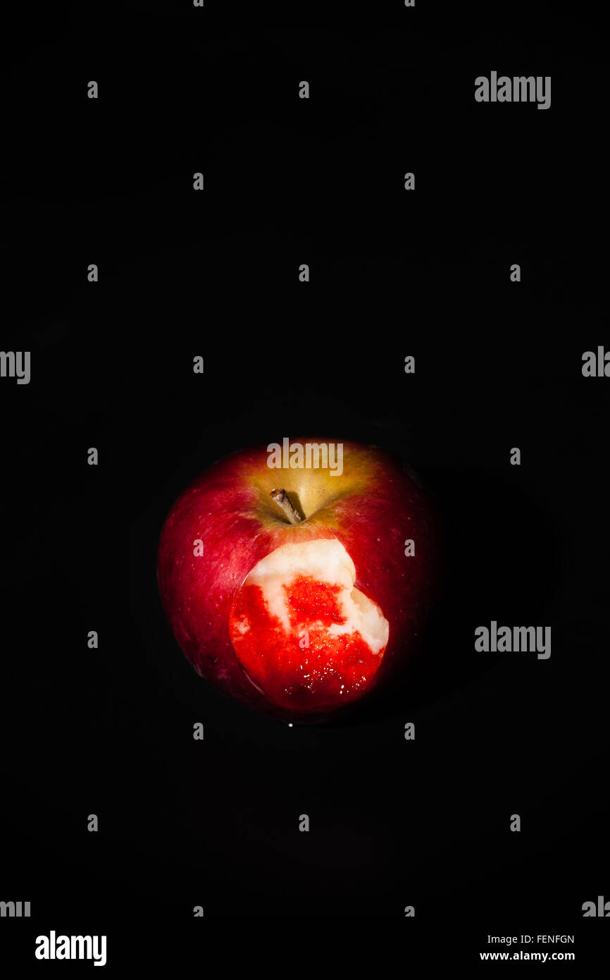 Bloody Apple - Stock Image