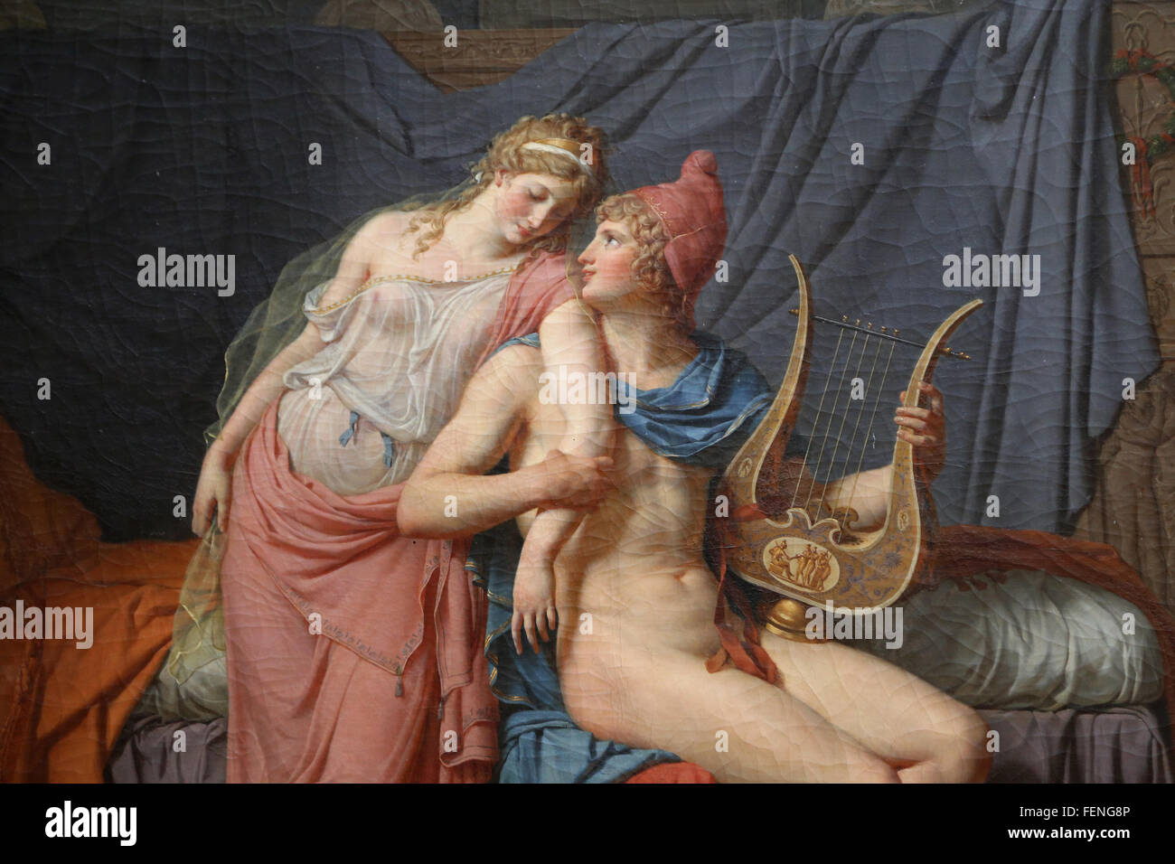 The Loves of Paris and Helen, 1788. Oil on Canvas. By Jacques-Louis David (1748-1825). Neoclassicism. Louvre Museum. - Stock Image