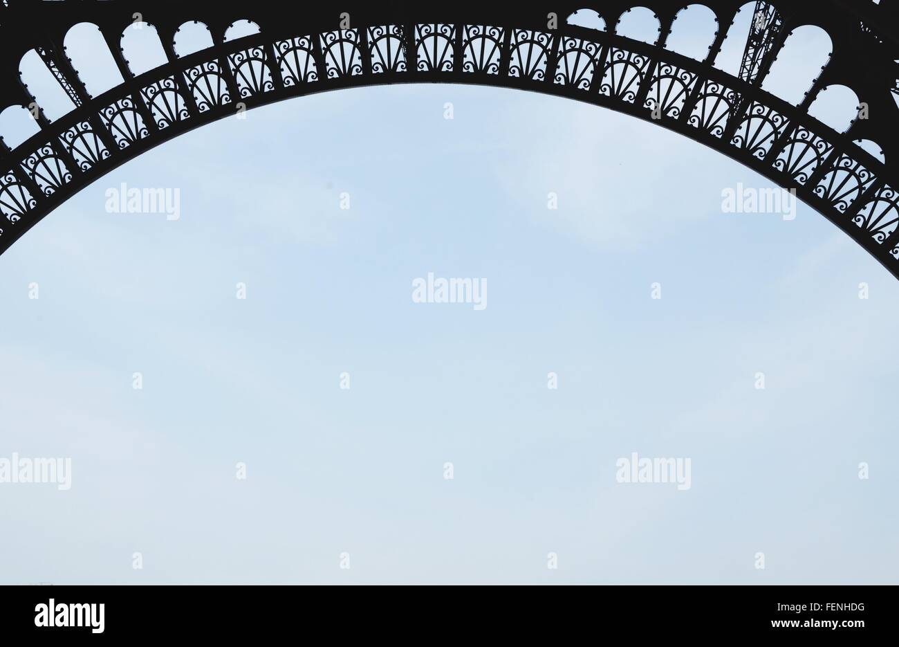 Close-Up Of Arch Of Eiffel Tower - Stock Image