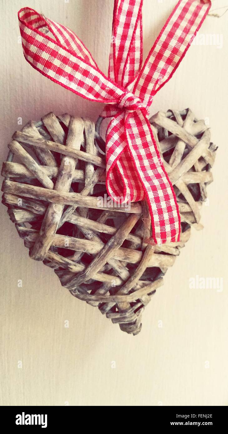 Close Up Of Heart Shaped Decoration - Stock Image