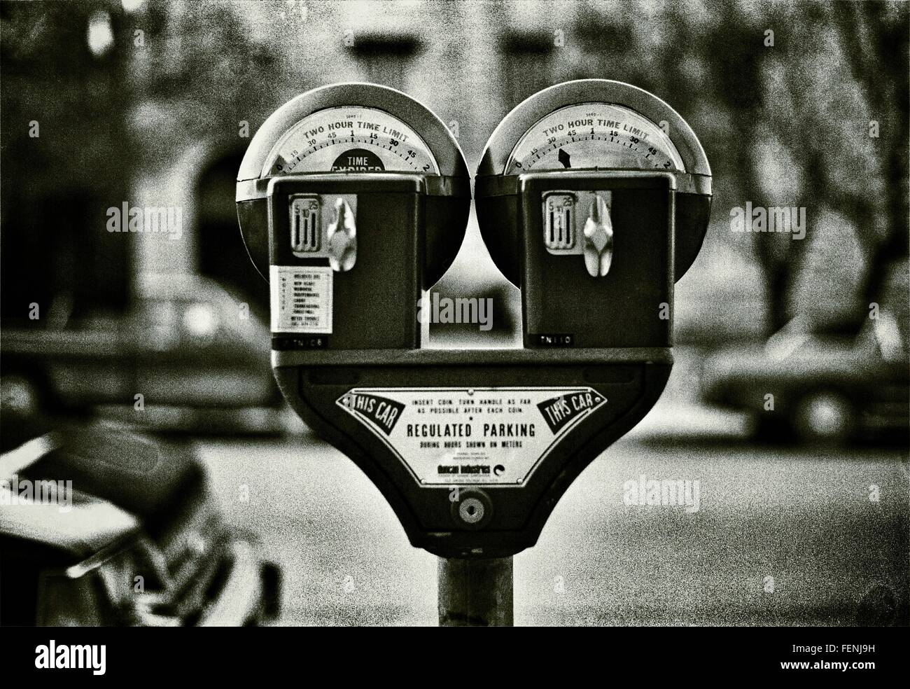 Close Up Of Parking Meter - Stock Image