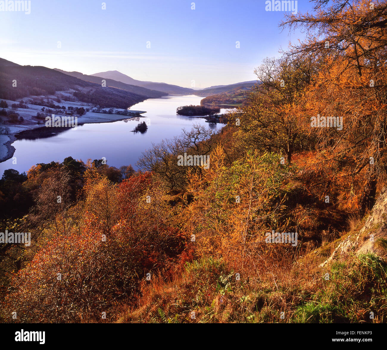 Autumn view from the Queens view,Loch Tummel, Perthshire. - Stock Image