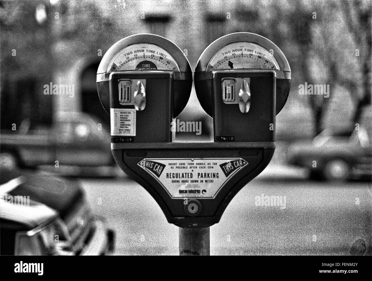 View Of Parking Meter - Stock Image