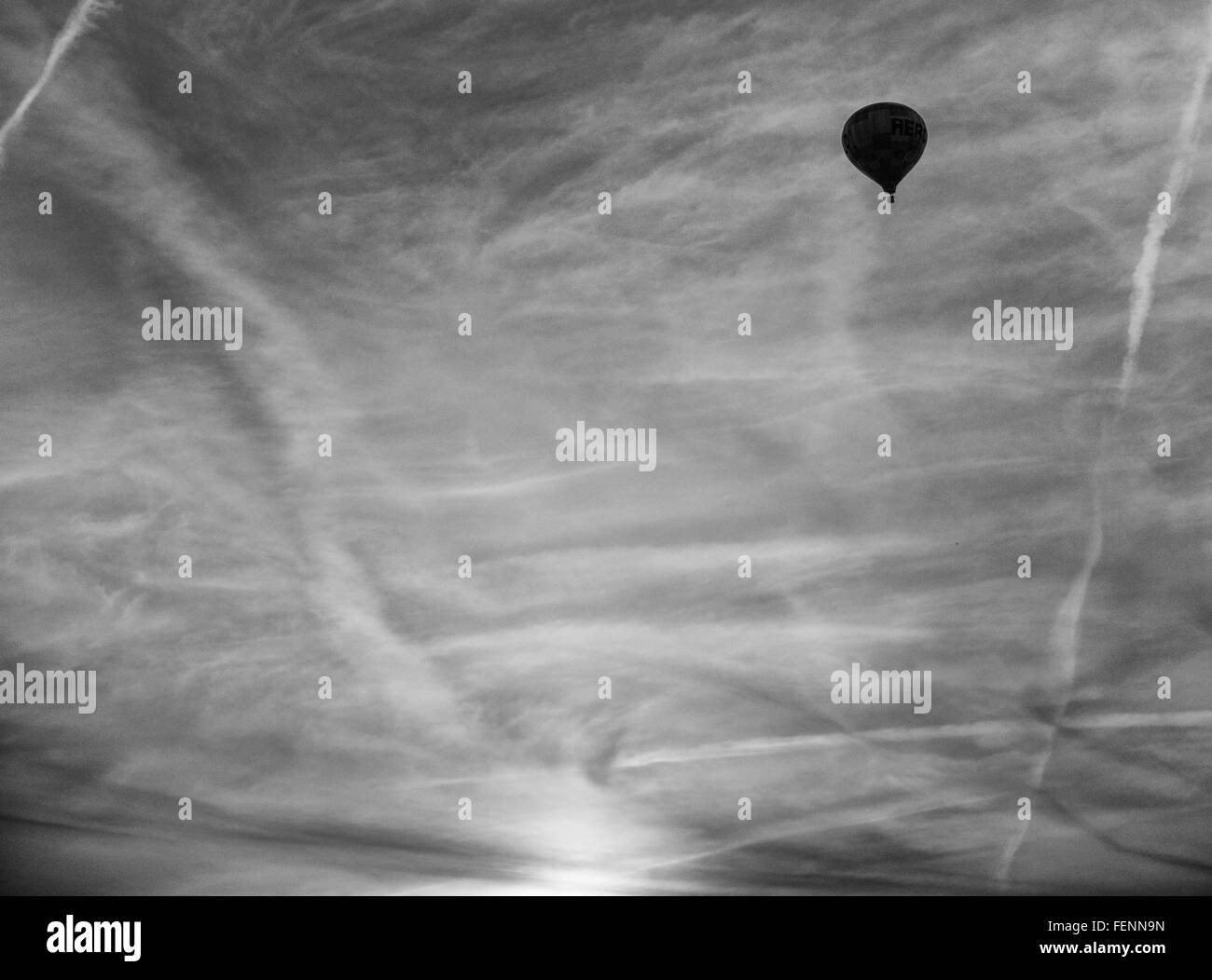 Low Angle View Of Hot Air Balloon - Stock Image