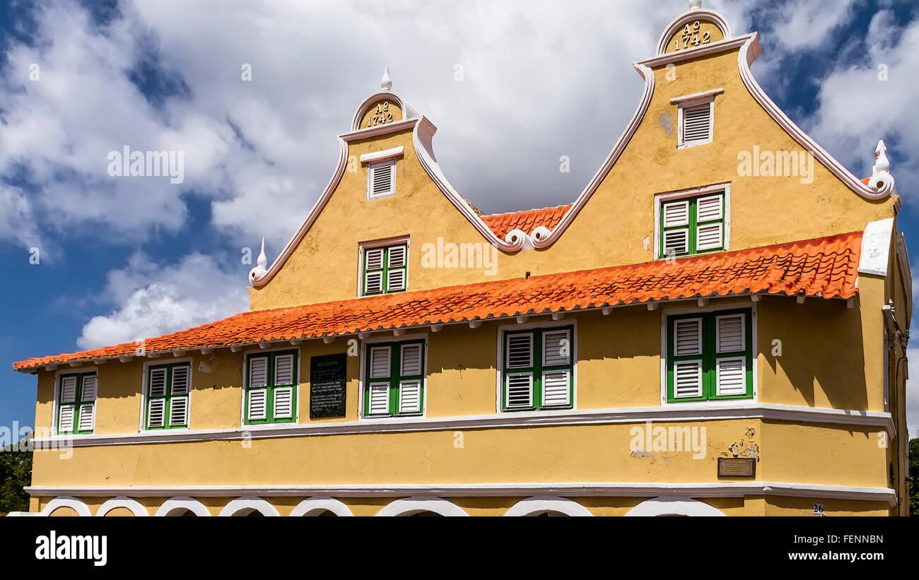 Upper Storey Villa Sebastopol Willemstad Curacao - Stock Image