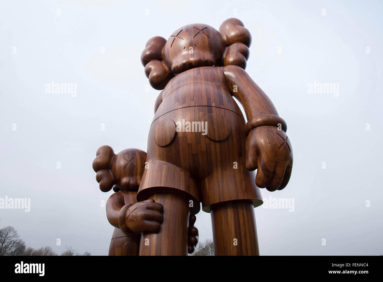 5dfe6e6f A sculpture, entitled 'Good Intentions' by American artist KAWS, pictured  at Yorkshire Sculpture Park, near Wakefield.