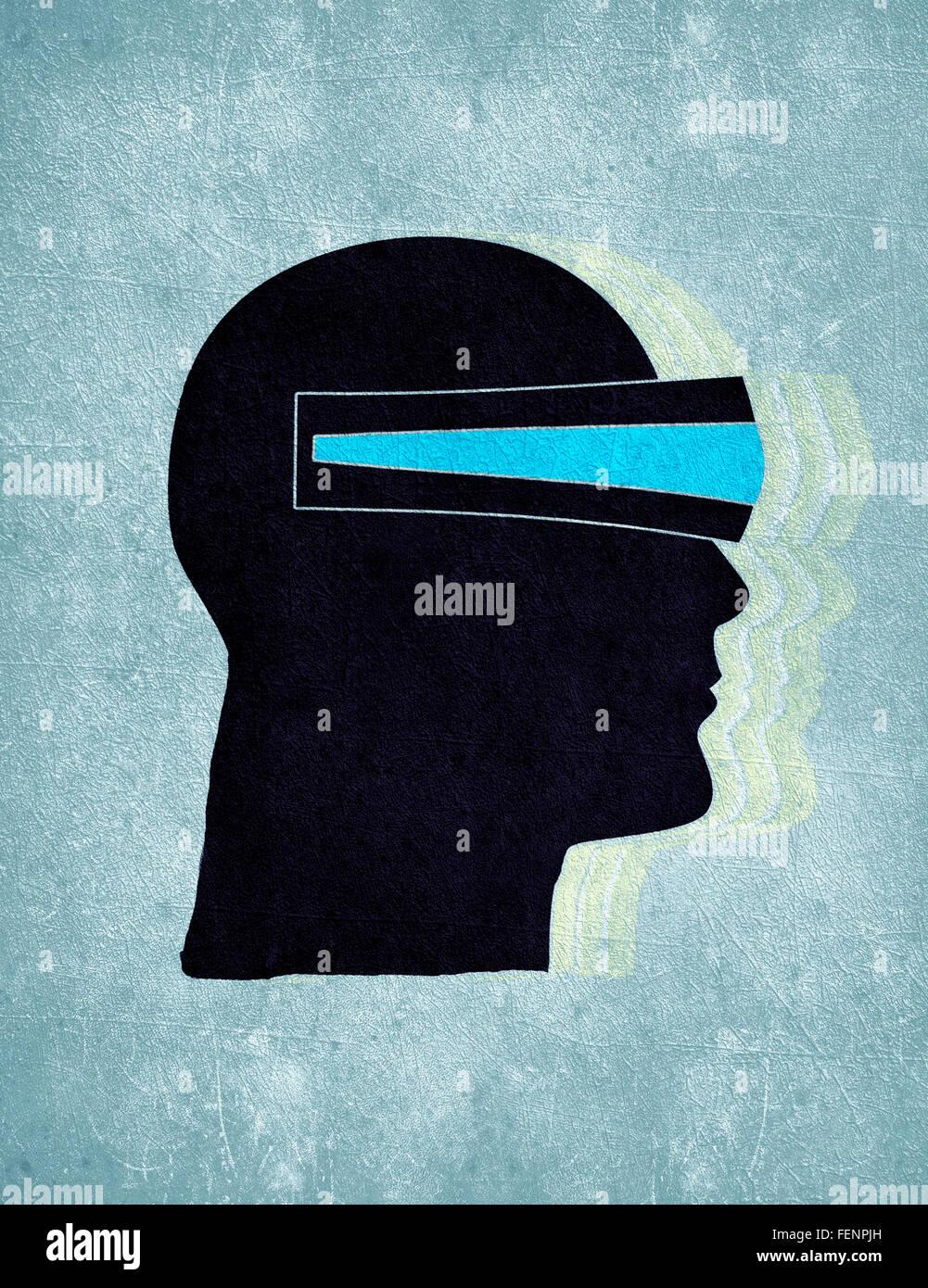3d vision concept digital illustration - Stock Image