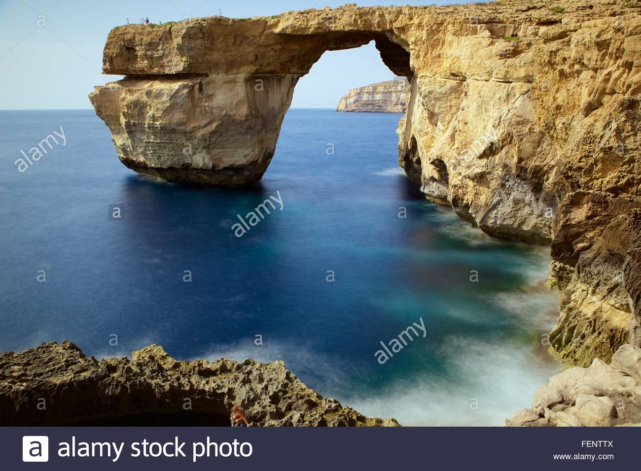 Azure window, Gozo, Malta - Stock Image