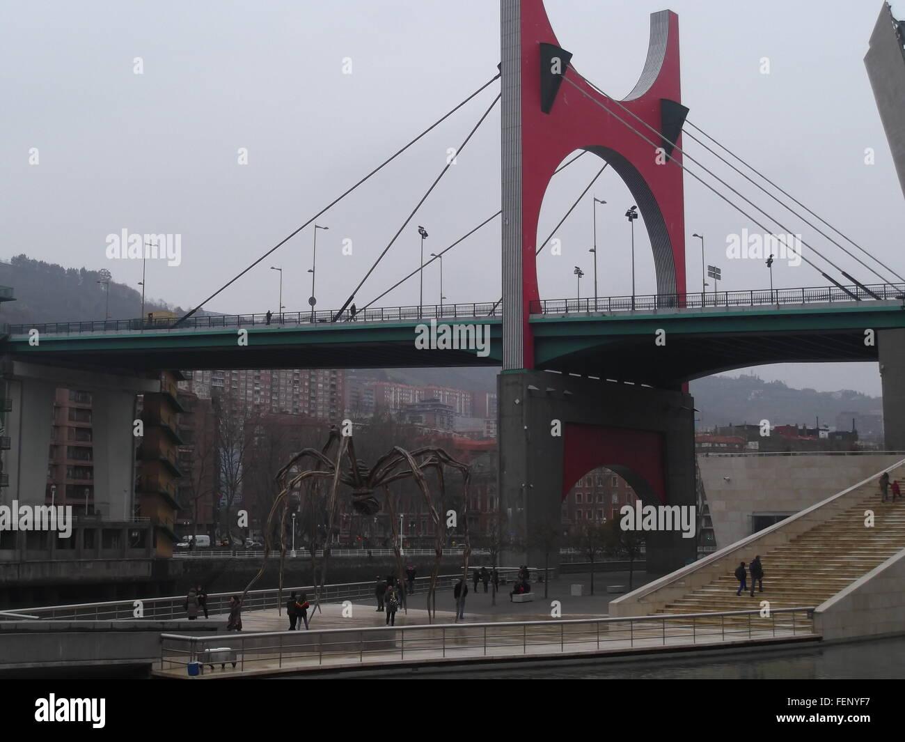 Low Angle View Of Suspension Bridge - Stock Image