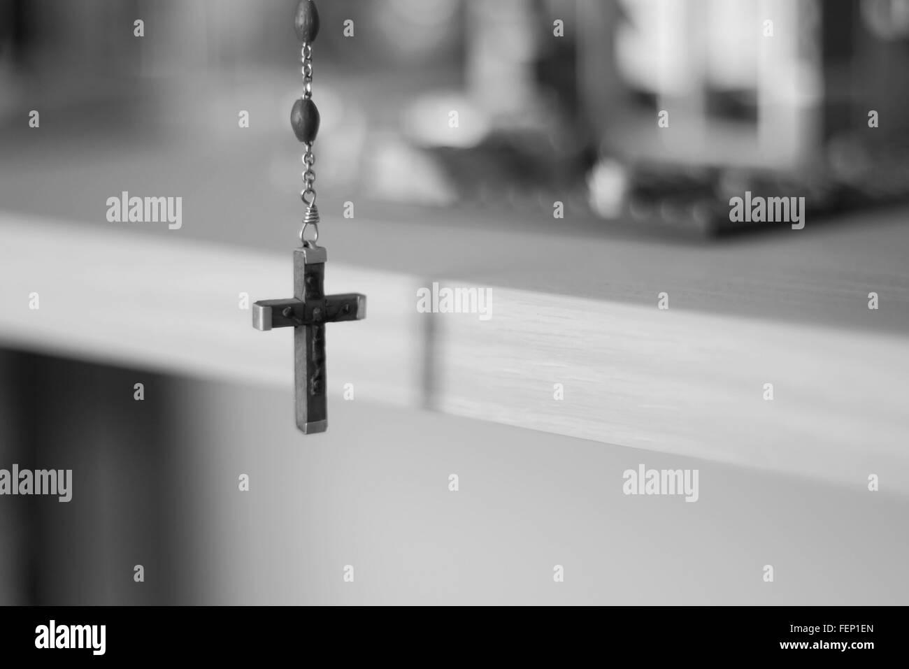 Close-Up Of Crucifix - Stock Image