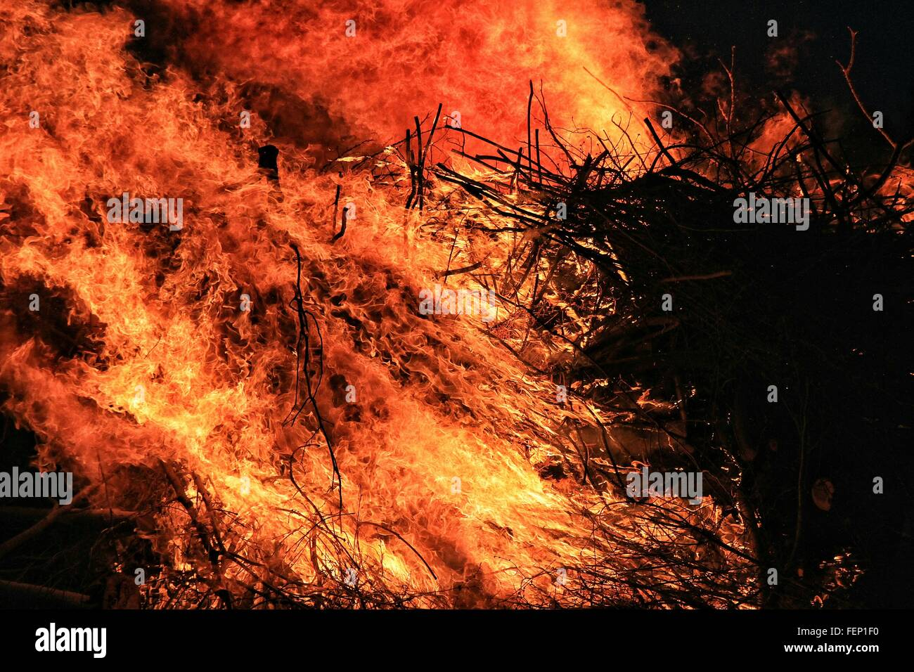 Close-Up Of Fire - Stock Image